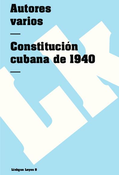 Constitución cubana de 1940
