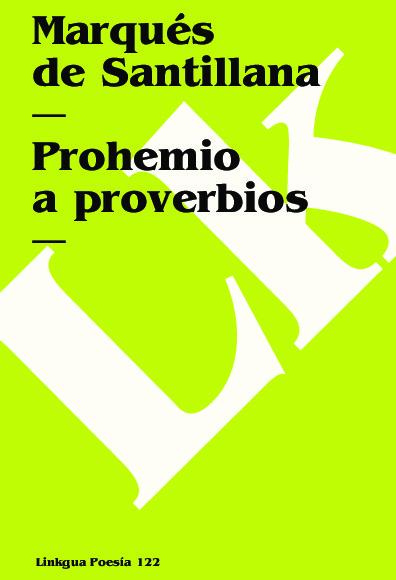 Prohemio a proverbios