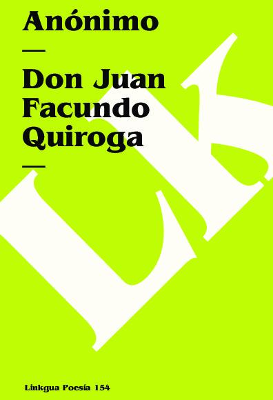 Don Juan Facundo Quiroga
