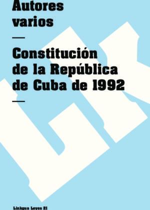 Constitución de la República de Cuba 1992