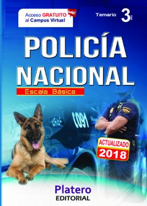 Policía Nacional Escala Básica Temario vol. 3