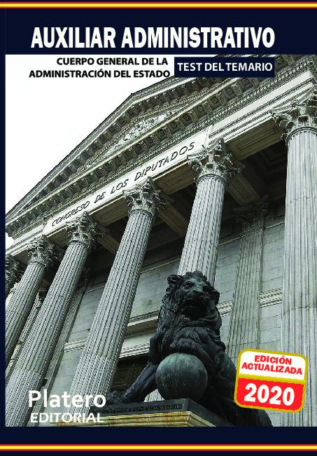 TEST AUXILIARES ADMINISTRATIVOS DEL ESTADO 9788412077742